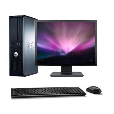 "DELL OPTIPLEX 380 DT 19"" Intel Core 2 Duo 2.9 Ghz  Hdd 250 Go Ram 4 Go"