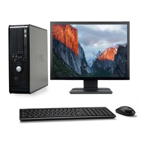 "Dell Optiplex 760 SFF 17"" Intel Core 2 Duo 2.8 GHz  - HDD 160 Go - RAM 4 Go"