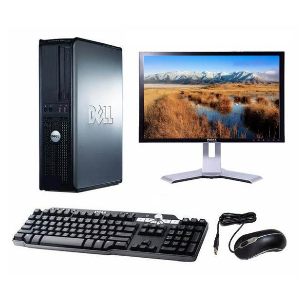 "Dell Optiplex 330 DT 17"" Intel Core 2 Duo 1.8 GHz  - HDD 2 To - RAM 2 Go"