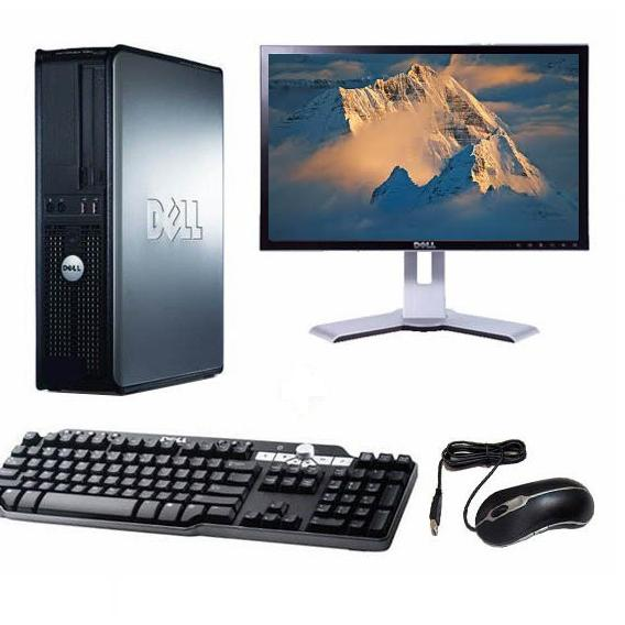 "Dell Optiplex 745 DT 17"" Intel Pentium D 1.8 GHz  - HDD 2 To - RAM 2 Go"