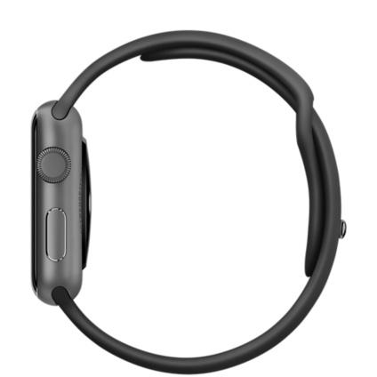Apple Watch 42 mm - Aluminio Gris espacial - Correa Sport Negra