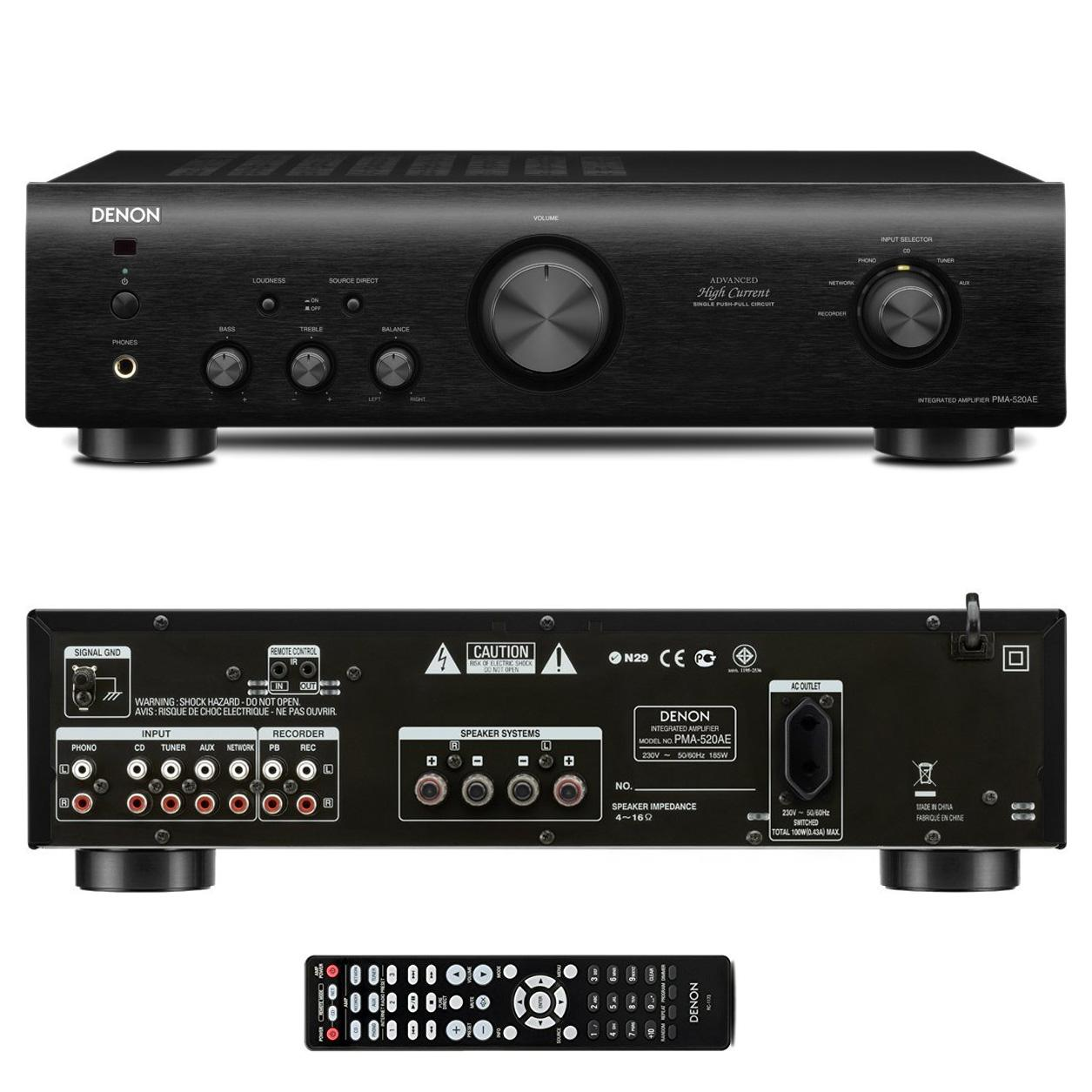Amplificateur intégré Denon PMA-520AE 2x 70W