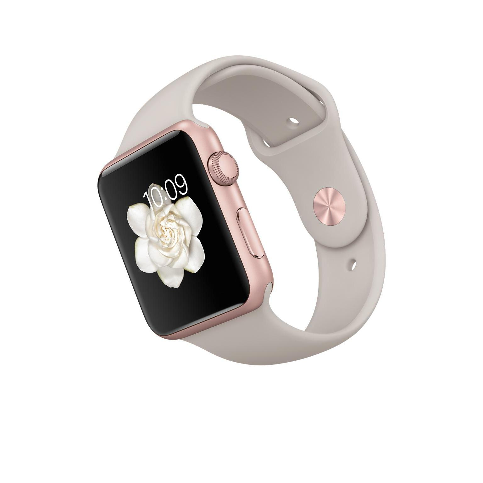 Apple Watch 42 mm - Aluminio Oro Rosa - Correa Sport Gris