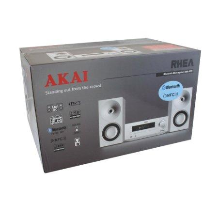 Mini-chaîne Akai AMBT-67W Radio-CD-MP3 - Bluetooth - NFC - 80W