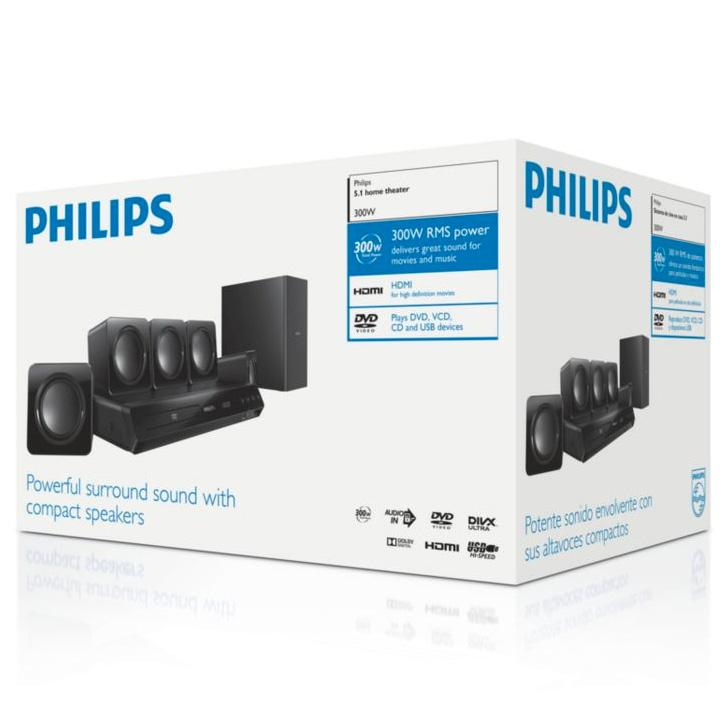 Home cinema Philips HTD3510/12 - DVD 5.1 - 300W