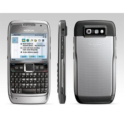 Nokia E71 - Silver - Orange