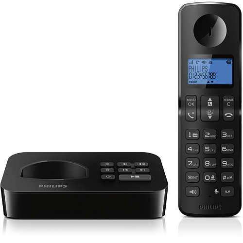 Telephone sans fil avec repondeur Philips D3151B/FR