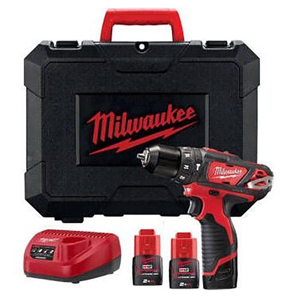 Milwaukee - M12BPD202C - Coffret perceuse à percussion avec chargeur et 2 batteries