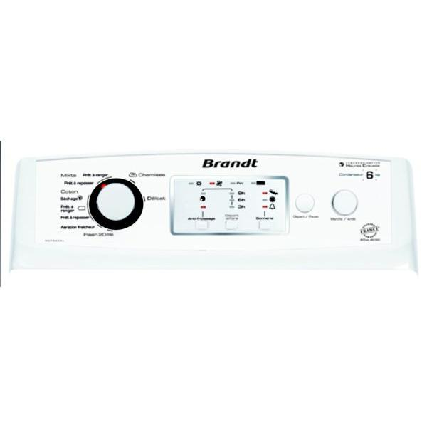 Sèche-linge à condensation top BRANDT BDT 562AL 6kg