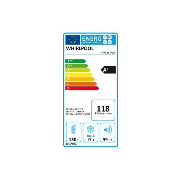 Réfrigérateur intégrable top WHIRLPOOL ARG451 /A+ 130 litres