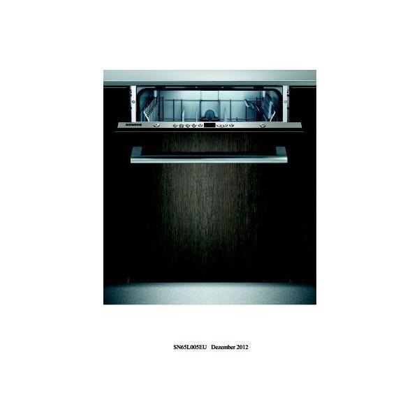 Lave-vaisselle tout intégrable SIEMENS SN65L005EU