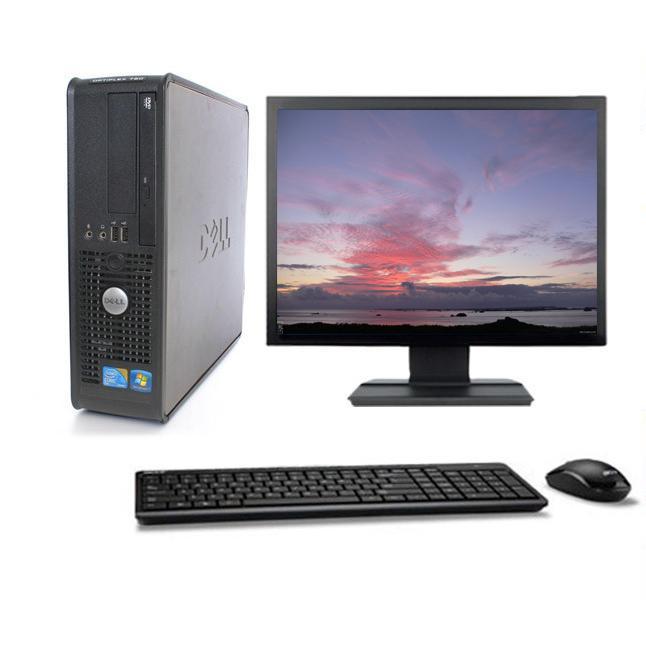 """DELL Optiplex 780 SFF 19"""" Intel Core 2 Duo 3 GHz  - HDD 160 Go - RAM 8 Go"""