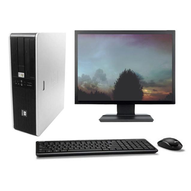 """HP Compaq DC5750 SFF 19"""" AMD Sempron 2 GHz  - SSD 240 Go - RAM 4 Go"""