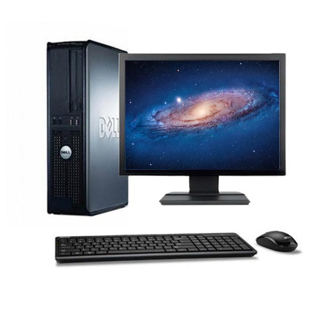 "Dell Optiplex 330 DT 17"" Intel Core 2 Duo 1.8 GHz  - HDD 250 Go - RAM 4 Go"