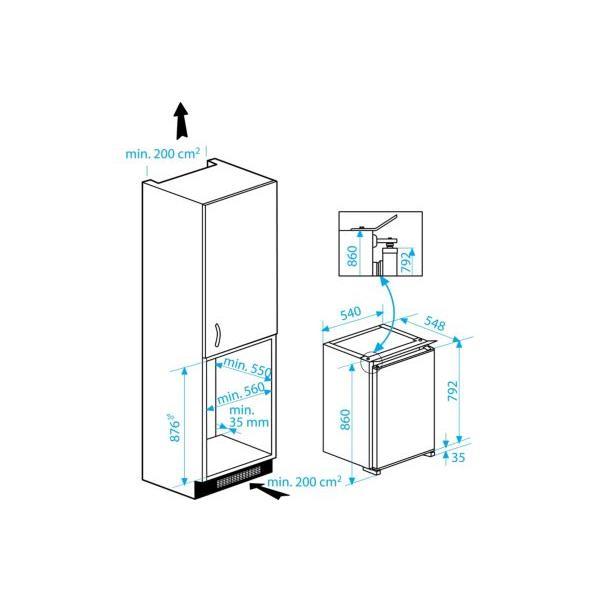 Congélateur armoire intégrable BEKO B1902HCA 85 litres