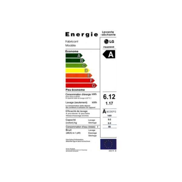 Lave-linge séchant frontal LG 96400 WHR 6/9kg  60 x 85 x 64 cm