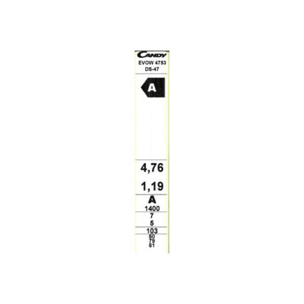 Lave-linge séchant CANDY EX EVOW4753DS 5/7kg 60 x 85 x 54 cm