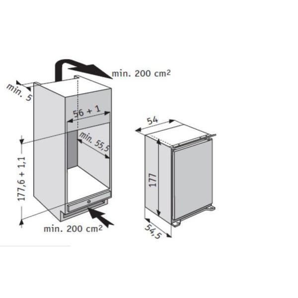 Réfrigérateur encastrable WHIRLPOOL ARG749/A+/1 54 x 177 x 53.5 cm