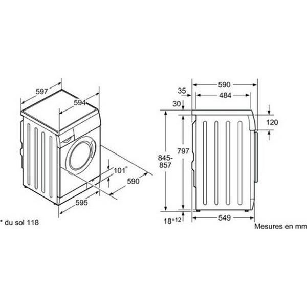 Lave Linge Frontal BOSCH WAE20360FF 7kg