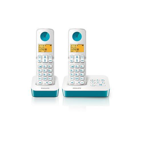 Téléphone sans fil avec répondeur Philips D2452WT/FR