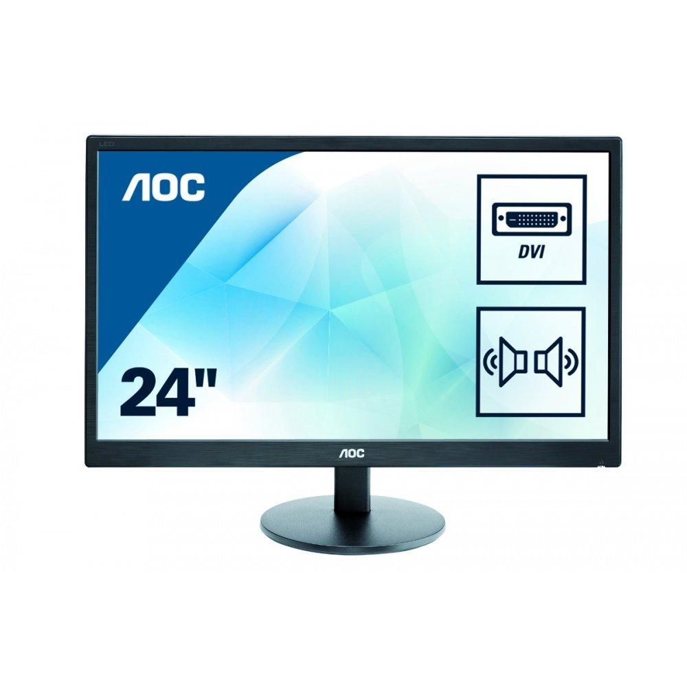 "AOC - E2470SWDA - Ecran PC 23.6"" DVI,VGA et Hauts-parleur - Noir"
