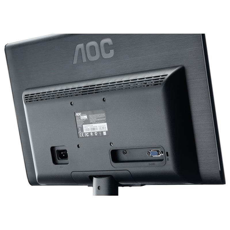 AOC - E950SWNK - Ecran PC 18.5'' LED 600:1 - 200cd/m2, 1366 x768  - Noir