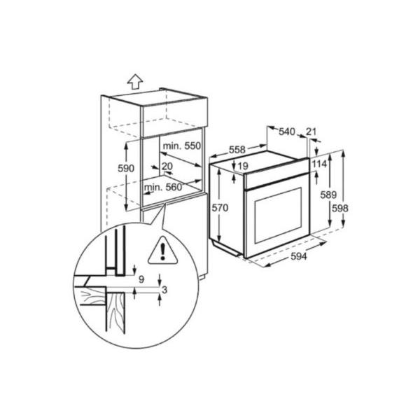 Four multifonction pyrolyse FAURE FOP27008XK