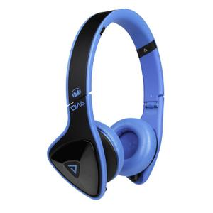 Kopfhörer Gaming Bluetooth mit Mikrophon Monster DNA On-Ear - Blau/Schwarz