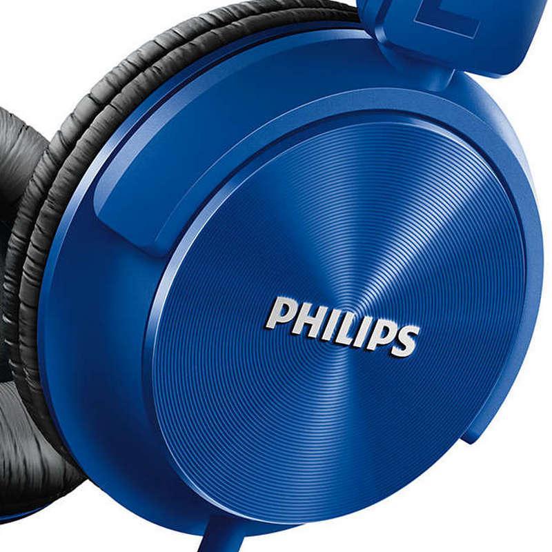 Casque avec micro Philips SHL3065BL/00 - Bleu
