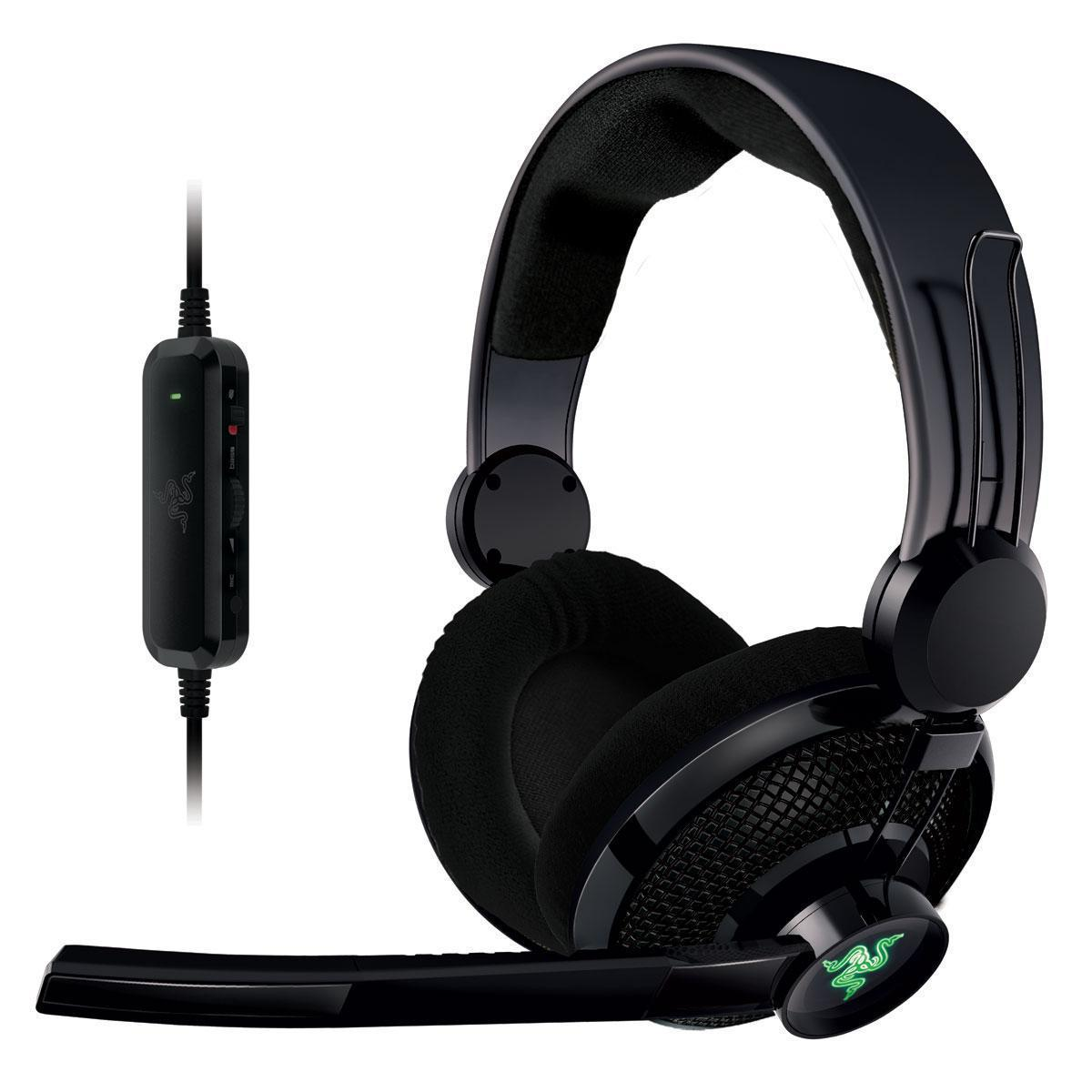 Casque Razer Carcharias - Pour Xbox 360/PC + Micro - Noir