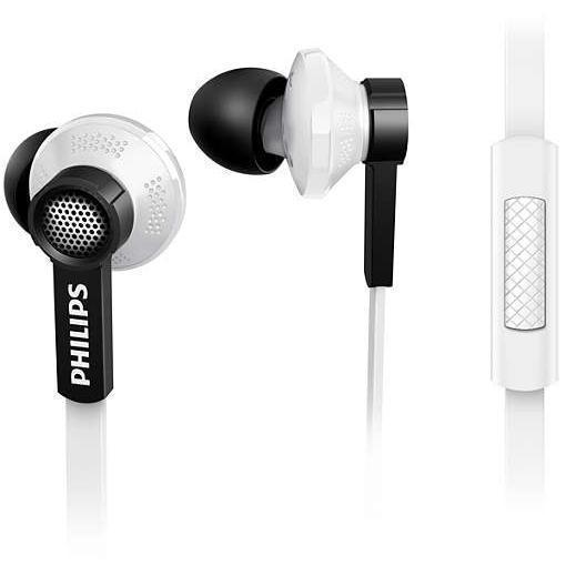 Ecouteurs Philips TX1WT/00 intra auriculaires avec micro - Blanc