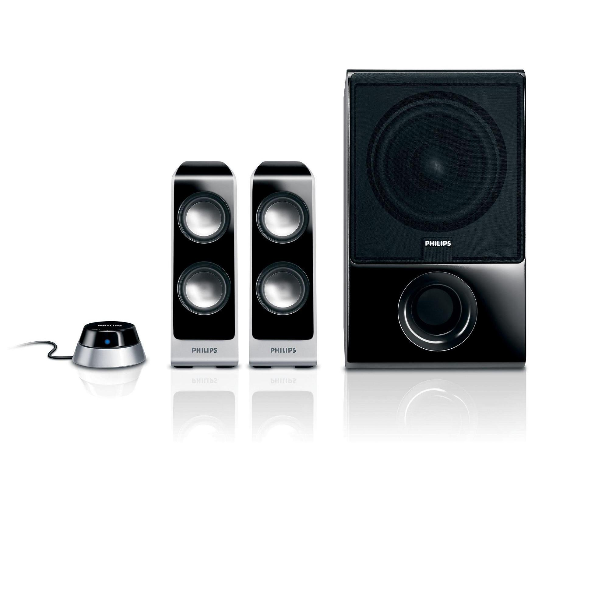 Philips Altavoces Multimedia - 2.1 Bass Reflex -100W - SPA7350/10