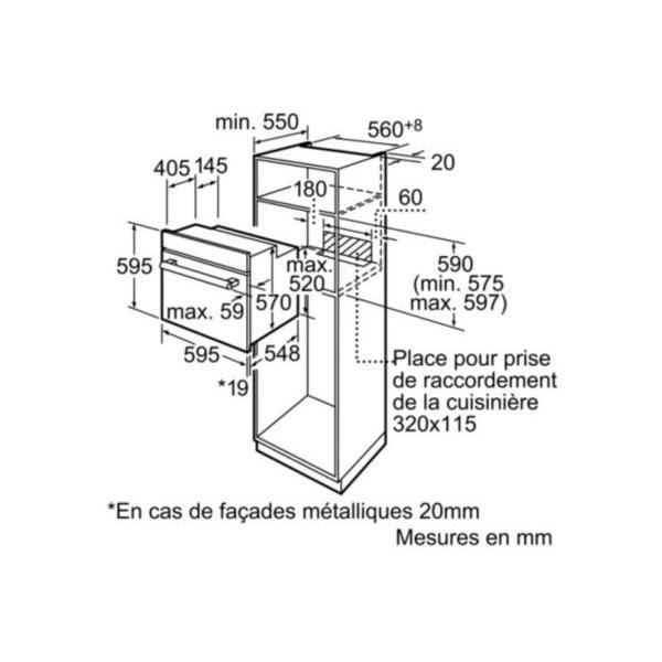 Four multifonction pyrolyse BOSCH HBA63B255F