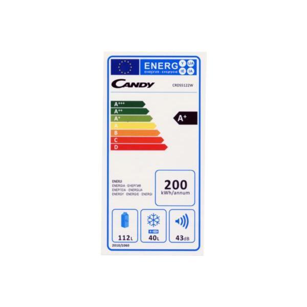 Réfrigérateur congélateur en haut CANDY CRDS 5122 W blanc