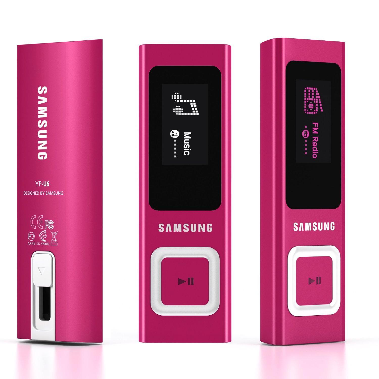 "Samsung YP-U6AP Lecteur mp3 écran 1"" - 4 Go Rose"