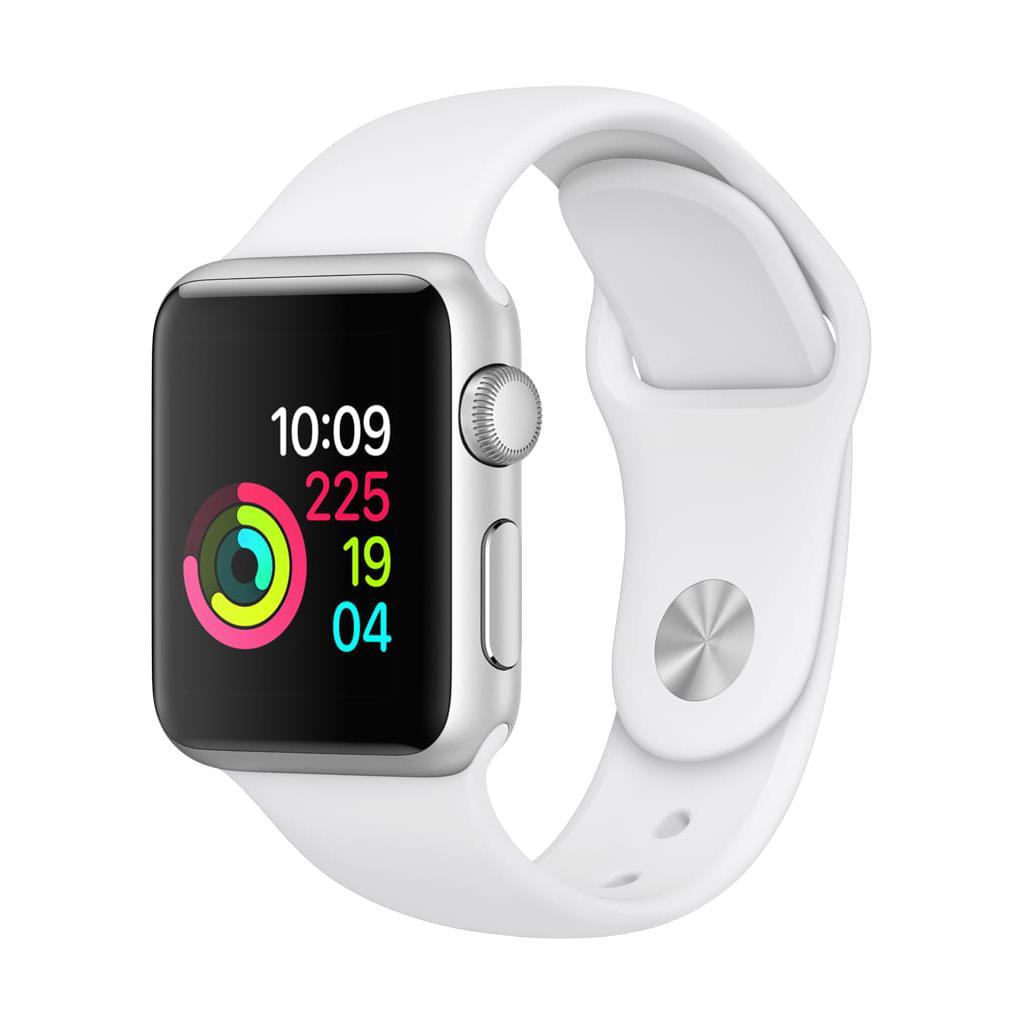 Apple Watch (Series 1) Décembre 2016 42 mm - Aluminium Argent - Bracelet Sport Blanc