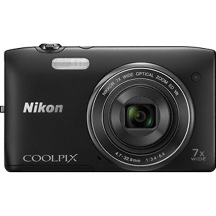 Nikon Coolpix S3500 Noir
