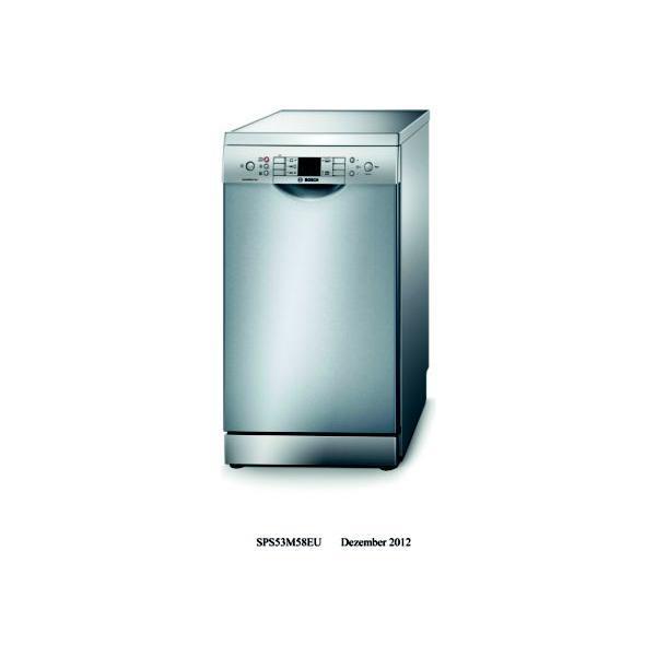 Lave-vaisselle 45cm BOSCH SPS53M58EU 9 couverts
