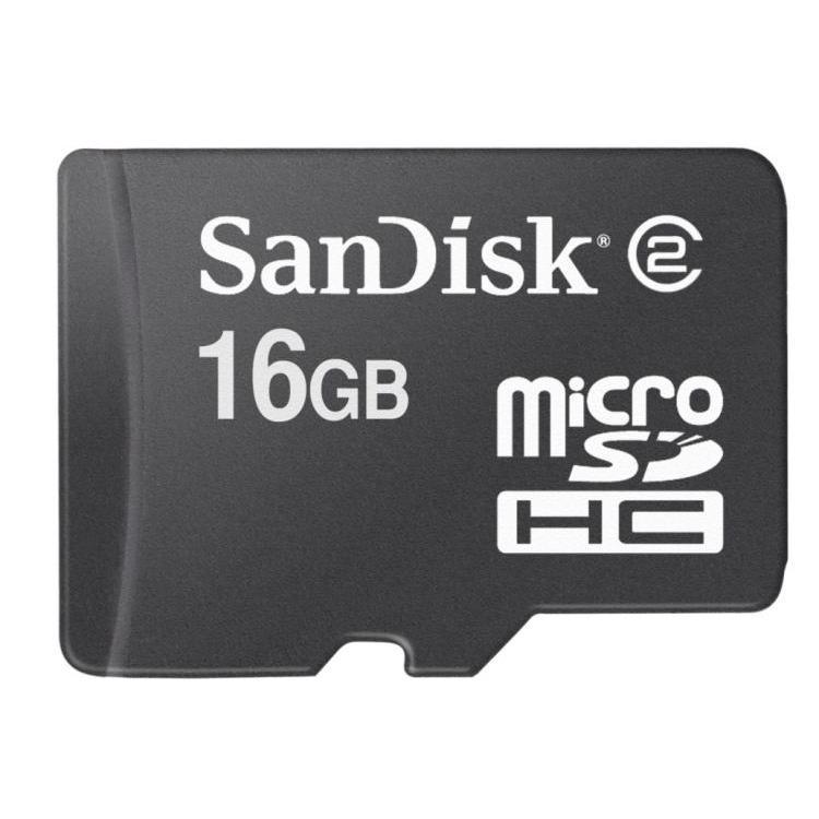 Cartes mémoire Sandisk MicroSDHC 16 Go