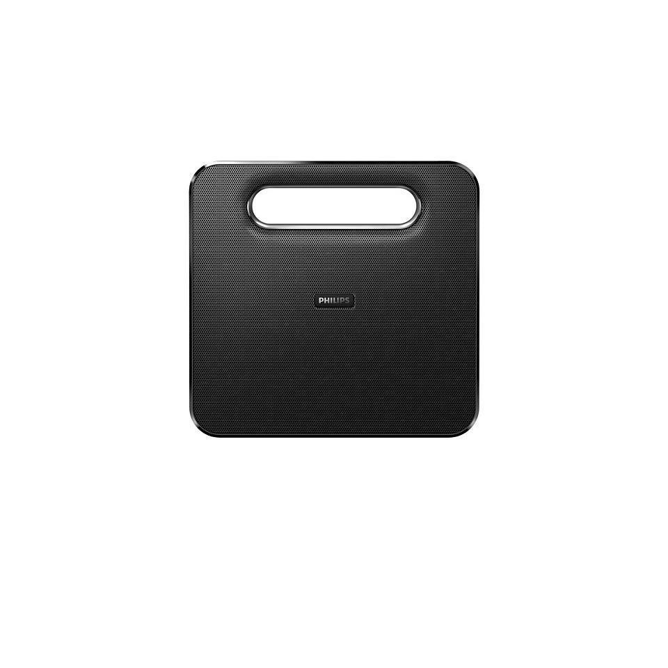 Enceinte sans fil bluetooth, NFC, USB avec micro Philips BT5500B/12