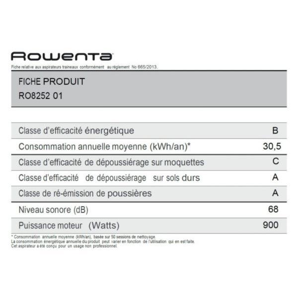 Aspirateur traineau sans sac ROWENTA RO825201 Silence Force Extreme Cyclonic