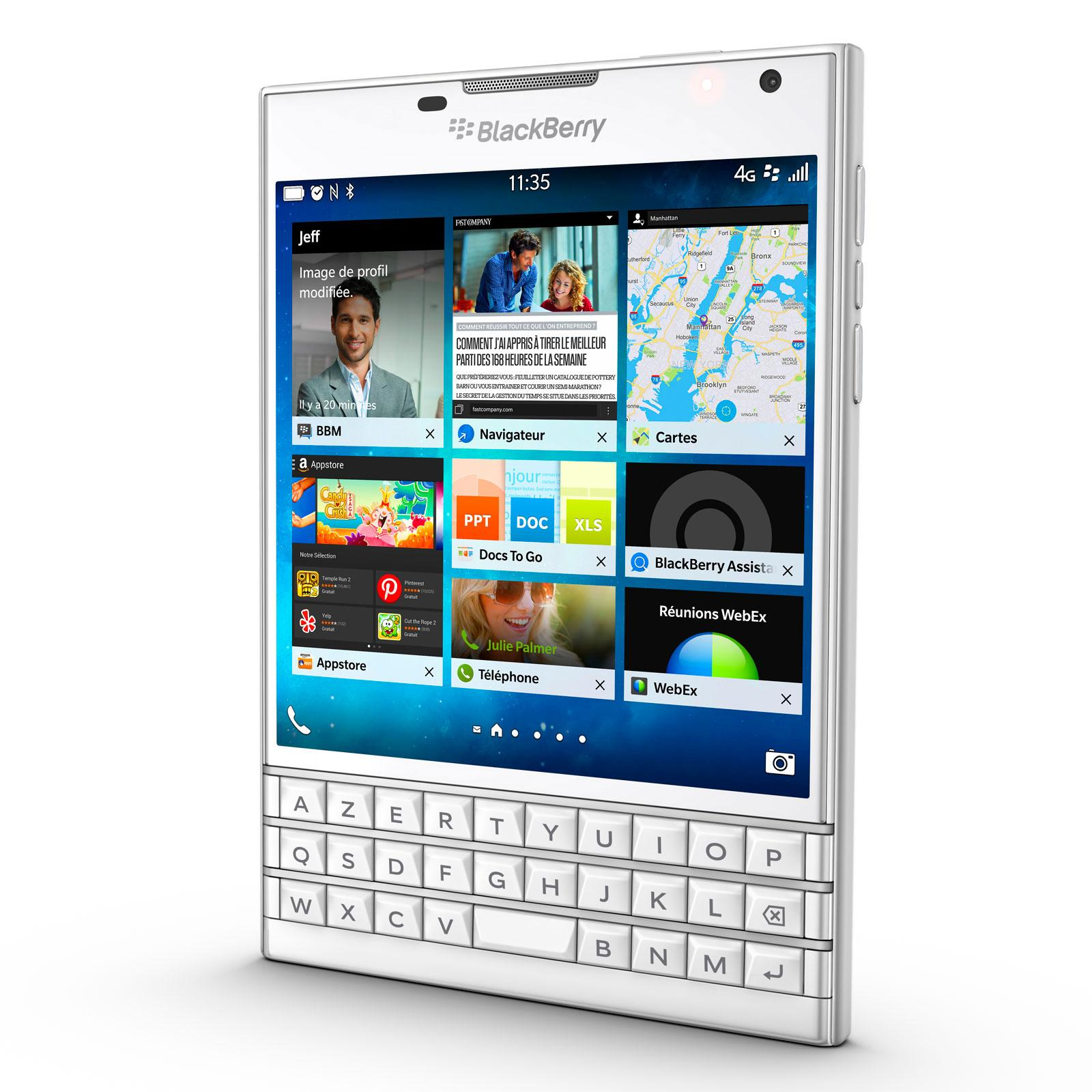 BlackBerry Passport (Azerty) 32 Go Blanc - Débloqué