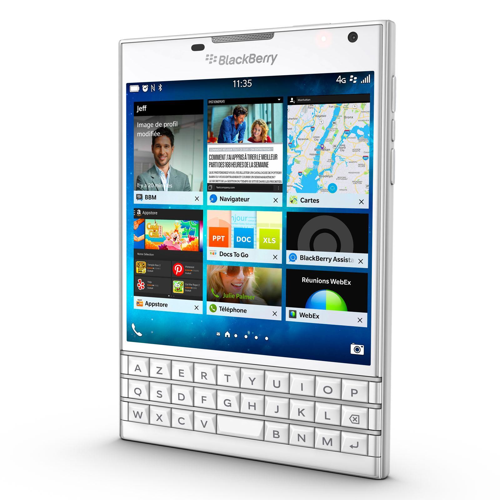 BlackBerry Passport (Azerty) 32 Go Blanc - Débloqué
