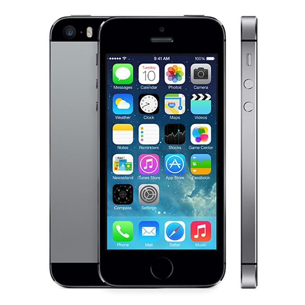 iPhone 5S 16 GB - Spacegrau - Orange