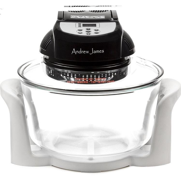 Andrew James - LR817A - Four halogène premium digital 12L noir et blanc