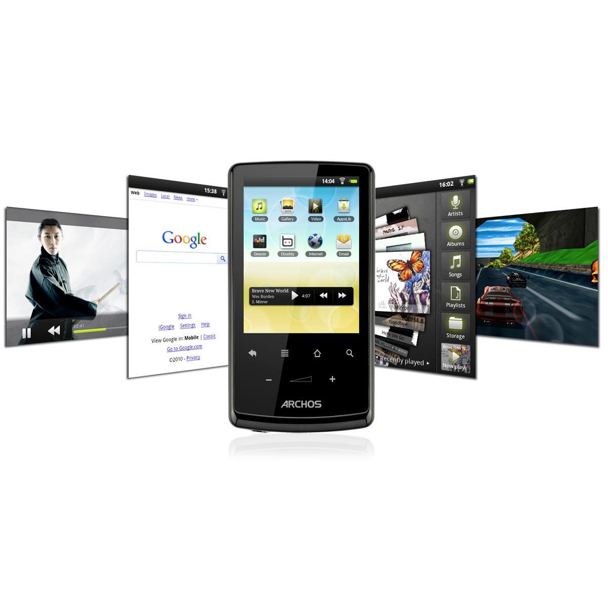 "Baladeur MP3-MP4 écran tactile 2,8"" - WIFI - Archos 28 Internet Tablet 4 Go"