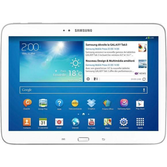 """Samsung Galaxy Tab 3 10"""" 16 Go - Blanc - Wifi"""