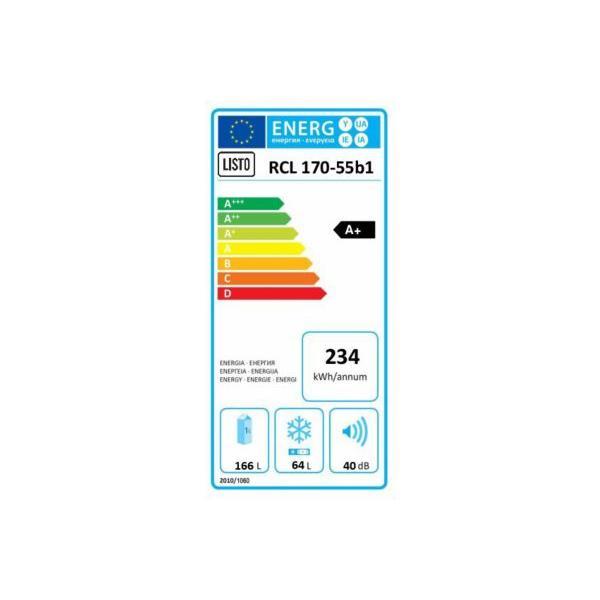Réfrigérateur congélateur en bas - LISTO - RCL 170-55b1 Froid statique
