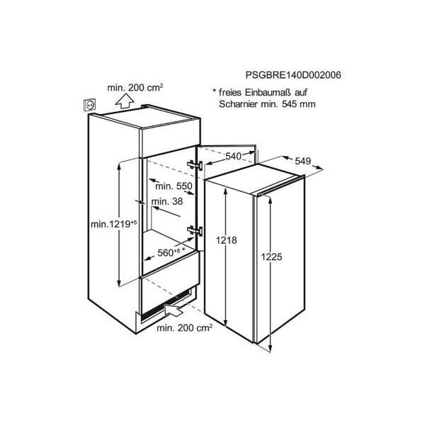 Réfrigérateur encastrable - FAURE - FBA22021SA