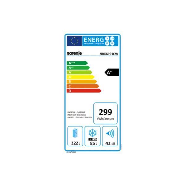 Réfrigérateur congélateur en bas - GORENJE - NRK6191CW Froid ventilé